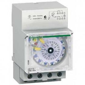 15366 Реле времени электромеханич. недел/суточное 1-канальное(IH 24h+7j 1+1c ARM) 16А с запасом хода