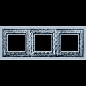 FD01293CB Рамка 3-я(Crystal De Luxe Art Swarovski), Bright Chrome