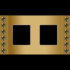 FD01272OR Рамка 2-ая(Crystal De Luxe VELVET), Золото