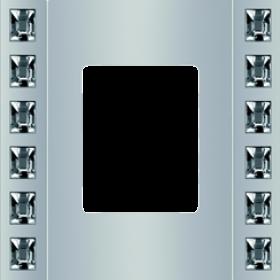 Рамка 1-ая Fede Crystal De Luxe Velvet Серебро FD01271CB IP20