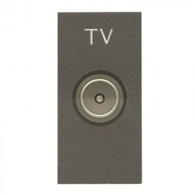 N2150.7 AN Розетка телевизионная TV 1 модуль ABB Zenit Niessen Антрацит