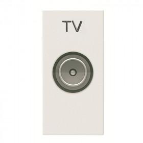 N2150.7 BL Розетка телевизионная TV 1 модуль ABB Zenit Niessen Белый