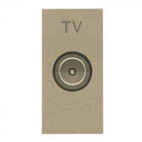 N2150.7 CV Розетка телевизионная TV 1 модуль ABB Zenit Niessen Шампань