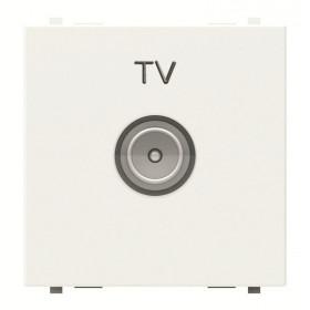 N2250.7 BL Розетка телевизионная TV 2 модуля ABB Zenit Niessen Белый