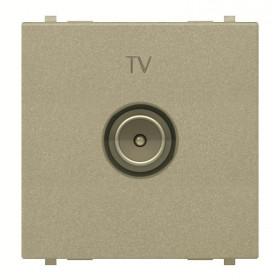 N2250.7 CV Розетка телевизионная TV 2 модуля ABB Zenit Niessen Шампань