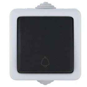 80002 Кнопка IP54 одноклавишная открытой установки влагозащищенная Экопласт Aqua серая 10А EF600SD