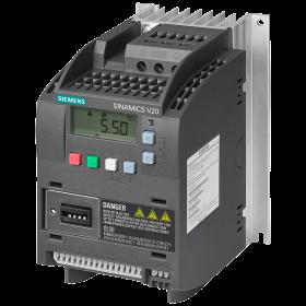 6SL3210-5BE17-5CV0 Преобразователь частоты (SINAMICS V20) 3 фазы, 400V, мощность 0,75кВт с фильтром
