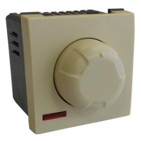 857201 Светорегулятор поворотный нажимной 600 Вт (LK45), БЕЖЕВЫЙ