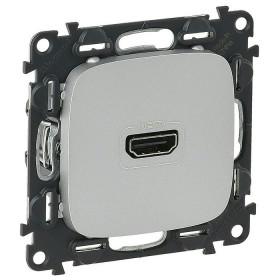 754717 Розетка HDMI Тип А Legrand Valena Allure Алюминий