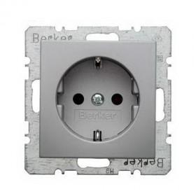 Розетка Berker S.1/B.3/B.7 Алюминий B41431404 IP20
