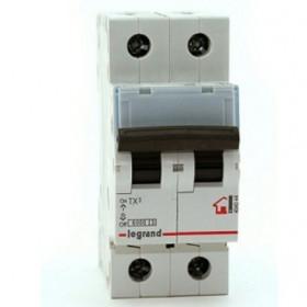 """404042 Автоматический выключатель 2-полюса 16A хар """"С"""" 6кА (TX3)"""