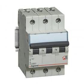 """404053 Автоматический выключатель 3-полюса 6A хар """"С"""" 6кА (TX3)"""