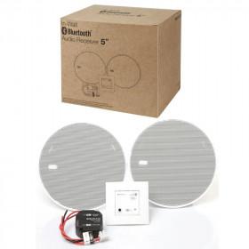 52606 KBSound In-Wall Bluetooth 5 Встраиваемый в стену приёмник и 2 колонки 5 Белый