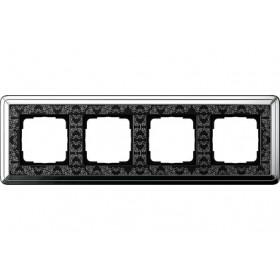 Рамка 4-ая Gira ClassiX Art Хром/Черный 214682 IP20