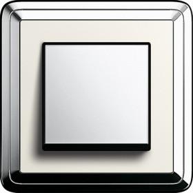 Рамка 1-ая Gira ClassiX Хром/Кремовый 211643 IP20