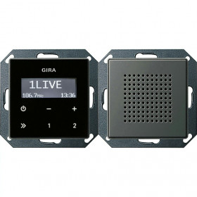 228020 Встраиваемое радио с динамиком Gira E22 Сталь Edelstahl