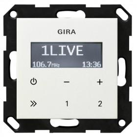 228403 Встраиваемое радио Gira Standard 55 Глянцевый Белый