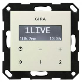 228401 Встраиваемое радио Gira Standard 55 Глянцевый Кремовый