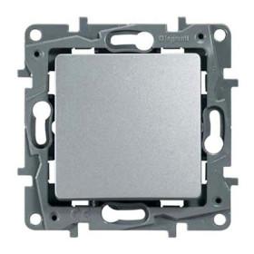 672405 Выключатель-переключатель одноклавишный с 2-х мест Legrand Etika Алюминий
