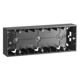 Коробка для наружного монтажа 3 поста Simon 15 Графит 1590753-038