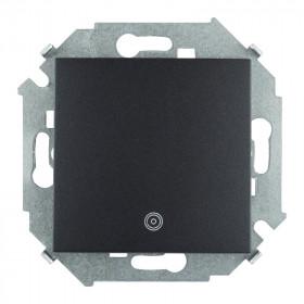 Кнопка Simon 15 с пиктограммой графит 1591150-038