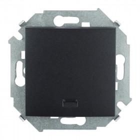 Кнопка Simon 15 с подсветкой графит 1591150-038