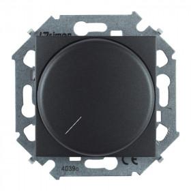1591796-038 Диммер поворотный для светодиодных LED диммируемых ламп 5-215Вт Simon 15 Графит