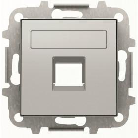 2CLA851810A1301 Накладка розетки тел/комп ABB Niessen SKY Серебристый Алюминий