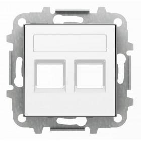 2CLA851820A1101 Накладка розетки тел/комп двойная ABB Niessen SKY Альпийский Белый