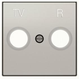 2CLA855000A1301 Накладка розетки телевизионной TV-R ABB Niessen SKY Серебристый Алюминий