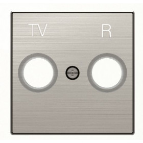 2CLA855000A1401 Накладка розетки телевизионной TV-R ABB Niessen SKY Нержавеющая Сталь