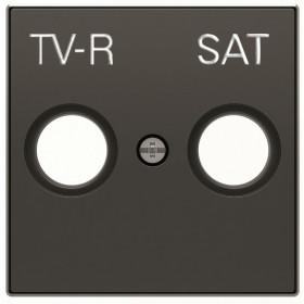 2CLA855010A1501 Накладка розетки телевизионной TV-R-SAT ABB Niessen SKY Чёрный бархат