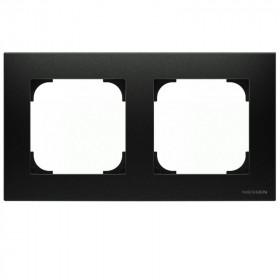 2CLA857200A1501 Рамка 2-ая SKY Чёрный бархат