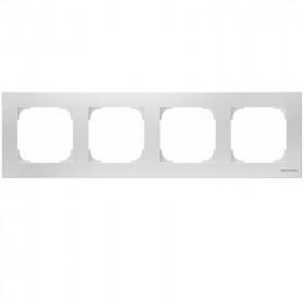 2CLA857400A1101 Рамка 4-ая SKY подложка серая Альпийский белый