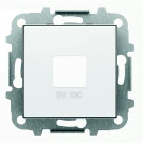 2CLA858500A1101 Накладка розетки USB-зарядки ABB Niessen SKY Альпийский Белый