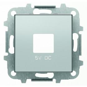 2CLA858500A1301 Накладка розетки USB-зарядки ABB Niessen SKY Серебристый Алюминий