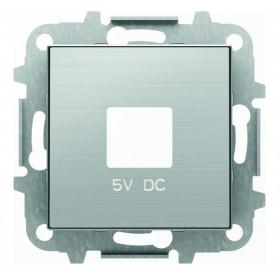 2CLA858500A1401 Накладка розетки USB-зарядки ABB Niessen SKY Нержавеющая Сталь