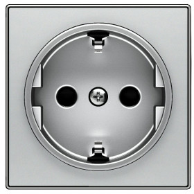 2CLA858800A1301 Накладка розетки электрической ABB Niessen SKY Серебристый Алюминий
