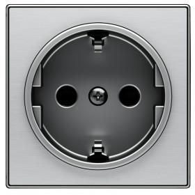 2CLA858800A1401 Накладка розетки электрической ABB Niessen SKY Нержавеющая Сталь