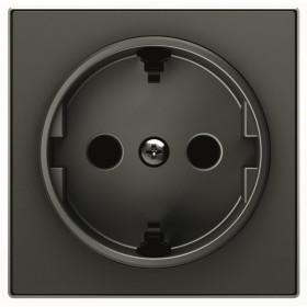 2CLA858800A1501 Накладка розетки электрической ABB Niessen SKY Чёрный бархат