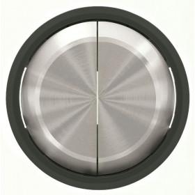 2CLA861100A1501 Клавиша двойная SKY Moon кольцо Чёрное Стекло