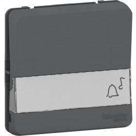 MUR34029 Механизм кнопки с полем для этикеток Mureva Styl IP55 Антрацит