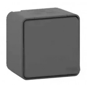 MUR35021 Выключатель одноклавишный с 2-х мест Mureva Styl IP55 Антрацит