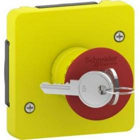 MUR35052 Механизм аварийного выключателя с ключом д/активации Mureva Styl IP55 Schneider Electric Желтый