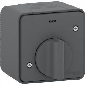 MUR35067 Выключатель с таймером Mureva Styl IP55 Schneider Electric Антрацит