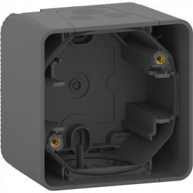 MUR37911 Коробка 1-я накладного монтажа Mureva Styl IP55 Антрацит