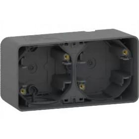 MUR37914 Коробка 2-я накладного монтажа Mureva Styl IP55 Антрацит