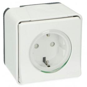 MUR39034 Розетка Mureva Styl IP55 накладной монтаж Schneider Electric Белый