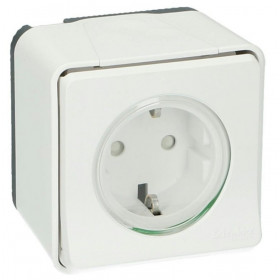 MUR39206 Розетка Mureva Styl IP55 накладной монтаж Schneider Electric Белый
