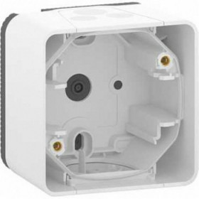 MUR39911 Коробка 1-я накладного монтажа Mureva Styl IP55 Белый